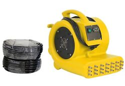 Commercial Wall & Cavity Drying System Pressure Dryer Water Damage Portable Fan