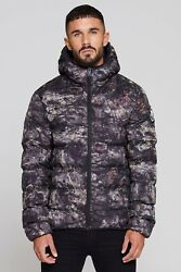 Mens Good For Nothing Romero Element Rock Camo Puffer Jacket (GFN6) RRP £69.99