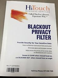 HiTouch Business Services Blackout Privacy Filter 17