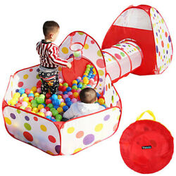 Portable Kids Baby OutdoorIndoor Game Play Tunnel Toys Tent Ocean Ball Pit Pool