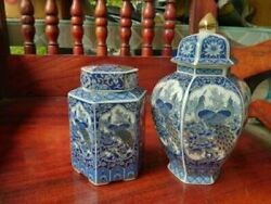 THE BEST Antique Chinese Blue and White Porcelain Vases-China Jar Signed. Rare