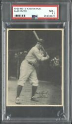 1929 R316 Kashin Publications Babe Ruth PSA 7.5 NM+ Yankees POP 2 Only 6 Higher!