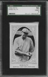 1922 W573 Babe Ruth Holding Ball SGC 50 VG EX 4 NY Yankees POP 1 Only 3 Higher