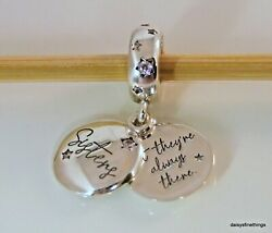 NWT AUTHENTIC PANDORA SILVER CHARM FOREVER SISTERS DANGLE #798012FPC HINGE BOX