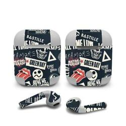 Skin Decal Protective decal Wraps for Apple Airpods Airpod Customize Rock Band