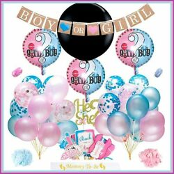 Boy or Girl Gender Reveal Party Supplies Kit with Gender Reveal Confetti Balloon $19.98