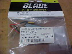 BLADE HELICOPTER PART EFLH1211B = RT. 180 MOTOR W 8T 0.5M amp; PTC FUSE : BCX $10.00