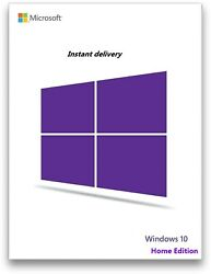 Instant Windows 10 Home 3264bit Genuine Key Product Code  Win 10 Home