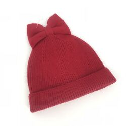 Kate Spade Red Dorothy Bow Hat Beanie Winter Knit New MSRP $48