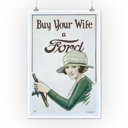 Buy Your Wife a Ford (Butler) USA - Vintage Ad (Posters Wood & Metal Signs)