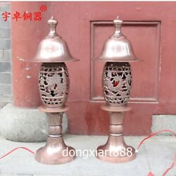 61cm Chinese copper Decorative Arts Lamps dragon phoenix desk lamp table lamp