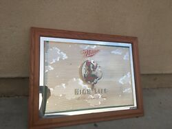 LARGE MILLER HIGH LIFE GIRL ON THE MOON MIRROR SIGN