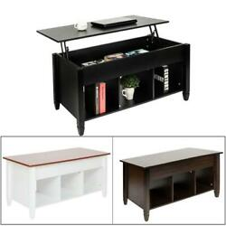 New Lift Top Coffee Table with Hidden Storage and Lower Shelf Living Room $99.99