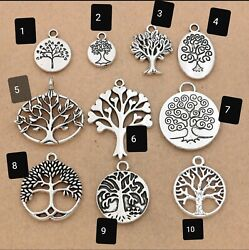 2 x Elegant Pure 925 Sterling Silver Necklace & Silver plated Tree of Life Penda $7.50