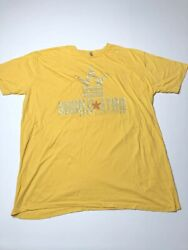 World Star Hip Hop Mens 4XL Tshirt Yellow Rhinestone Spellout Lettering Crown