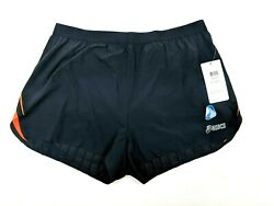 Asics Mens ARD Split Athletic Shorts BlackShock Size XL MS1675-9066