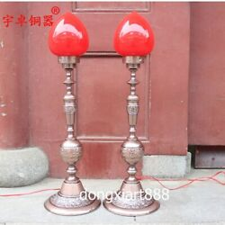 75 cm China copper bronze Decorative Arts Lamps Peach heart desk lamp table lamp