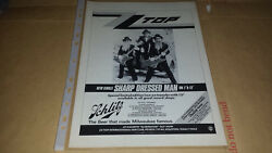 ZZ Top - Sharp Dressed Man - Single Advert - 80's90's00's Rock Art