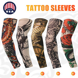 For Men Women Tattoo Cooling UV Sun Protection Arm Sleeves Golf Sports Outdoor $13.98