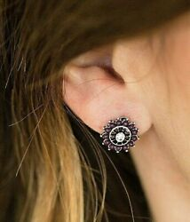 Paparazzi Dreamy Dahlia Dainty Post Purple  Earrings