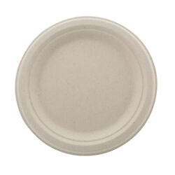 Spec101 Bagasse Compostable Plates 7in Natural Sugarcane Dining Plates 500pk $30.99