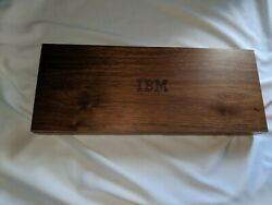 IBM Wooden Desk Caddy with Calculator CollectibleVintage Used AS-IS