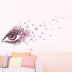 sexy girl eyes butterfly wall stickers living bedroom girls room decor decoratio $8.99