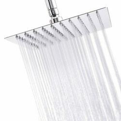 8-inch Chrome Finish Square Rainfall Shower Head without Extension Arm Top Spray