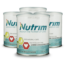 NUTRIM 4-30 SERVING CANS 120 SERVINGS 2-MONTH SUPPLY - OAT BETA GLUCANS HELP NEW