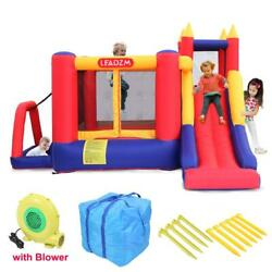 Inflatable Bounce House Kids Super Slide Jumper Castle Air Blower with Carry Bag $218.99