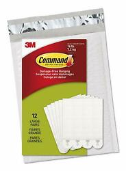 Command Picture & Frame Hanging Strips Value Pack Large White 12-Pairs