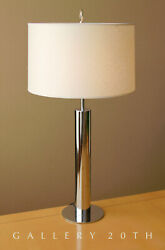MID CENTURY MODERN NESSEN CHROME DESK LAMP! PANTON ATOMIC 1960S VTG AFTER KOVACS
