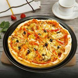 12 Inch Pizza Pasta Plates Baking Tray Oven Round Pan With Holes Kitchen Tool