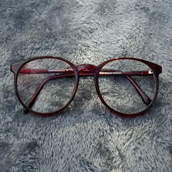 Vintage Pappagallo X 544 Eyeglasses Round Oversized Red 54-18-140 France 29-88