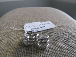 Elizabeth and James Tonto silver triple hoop with crystals pierced Earrings