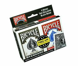 Bicycle Playing Cards - Poker Size - Single Deck 4 Pack