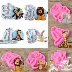 3D Animal Silicone Fondant Chocolate Mould Cake Decor Pastry DIY Baking Mold PS