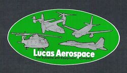 Vintage Sticker LUCAS AEROSPACE Airplane Plane Helicopter Systems Equipment $5.00