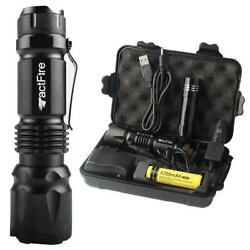 20000Lumens Zoomable LED Flashlight Rechargeable Torch Lamp Battery Charger $16.19