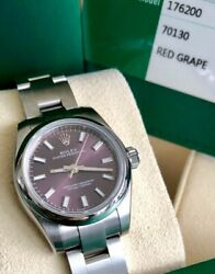 Rolex Womens 26mm Datejust 176200 Brand NEW with Stickers and New Grape Dial