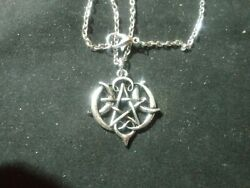 Antique Sliver Pentagram wiccan jewelry with 20