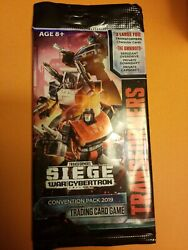 SDCC 2019 Transformers TCG Siege Exclusive Hasbro Convention Pack