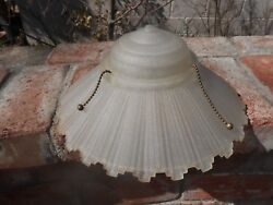 VINTAGE  GLASS LIGHT  LAMP ANTIQUE   SHADE $35.00