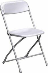 140 Plastic Folding Chairs Commercial White Wedding Party Rental Stackable Chair