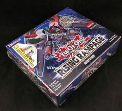 Yugioh Rising Rampage 1st Edition Booster Box Factory Sealed English 24 packs