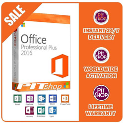 MS Office 2016 Professional Plus instant Delivery For Windows PC