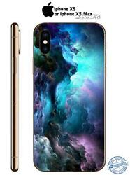 iPhone XS XS Max Plus Skin Decal Protective Wrap Case Cover Sticker Galaxy 49
