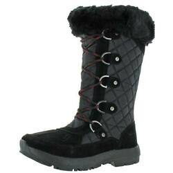 Bearpaw Women#x27;s Quinevere Quilted Leather Waterproof Mid Calf Snow Winter Boots $39.99