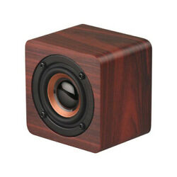 Mini Wooden Bluetooth Speaker Portable Wood Wireless Subwoofer for Smartphone