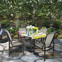 5-Piece Outdoor Patio Dining 1 Table and 4 Chairs Set Outdoor Furniture